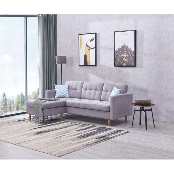 Lirette Reversible Sectional Stationary Sofa By Ivy Bronx