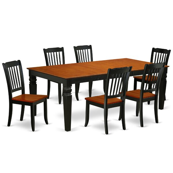Labriola 7 Piece Extendable Solid Wood Dining Set by August Grove