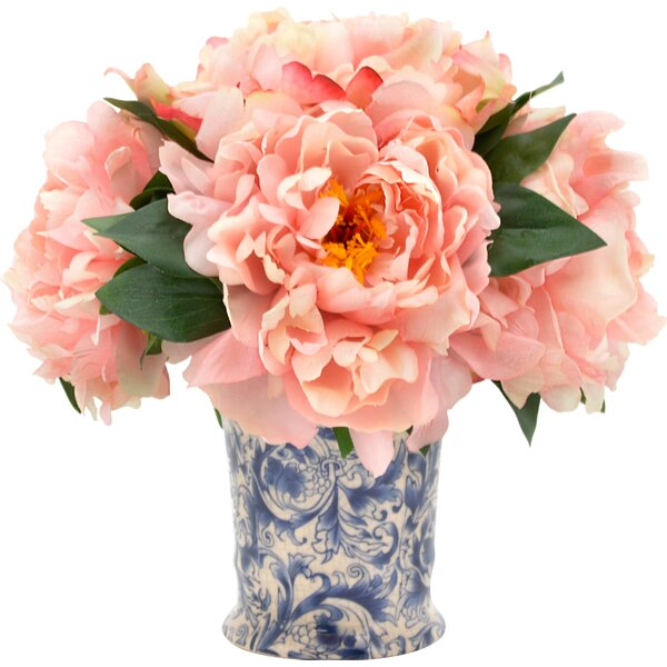 Blush Pink Peony Bouquet by Alcott Hill