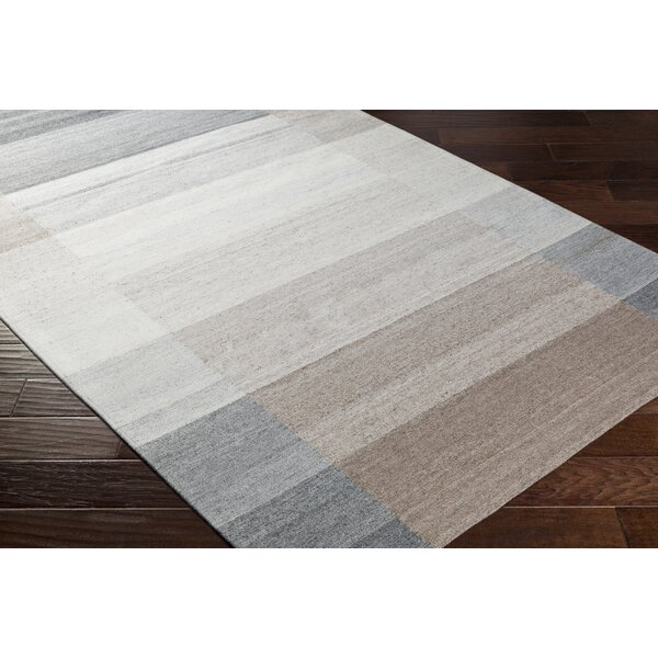 Dree Hand-Woven Gray/Brown Area Rug by Ebern Designs