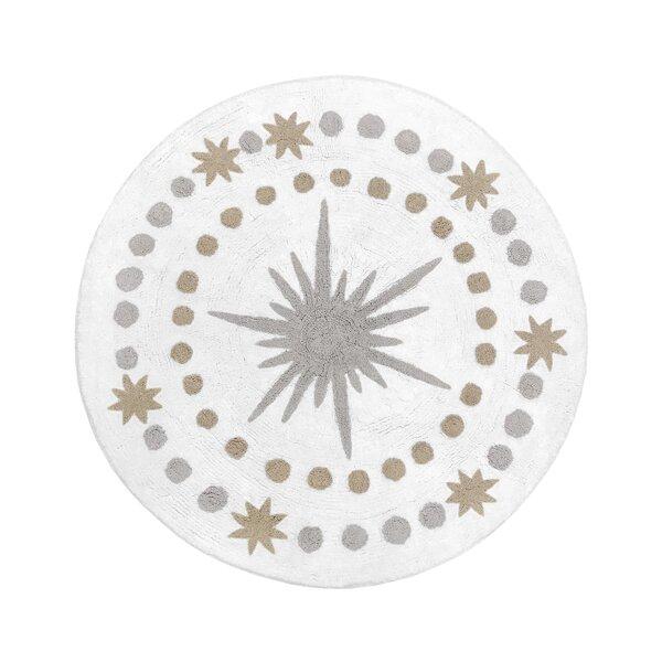 Celestial Cotton Gold/Gray/White Area Rug by Sweet Jojo Designs