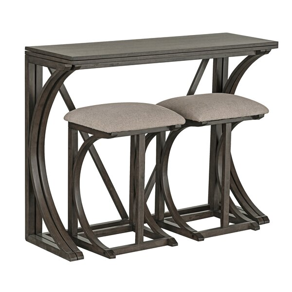 Natrona 3 Piece Pub Table Set by Ophelia & Co.