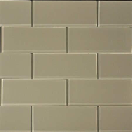 3 x 8 Glass SubwayTile in Wheat by The Bella Collection