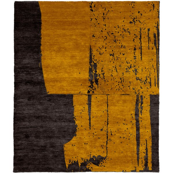 One-of-a-Kind Nathanial Hand-Knotted Traditional Style Orange 10' x 14' Wool Area Rug