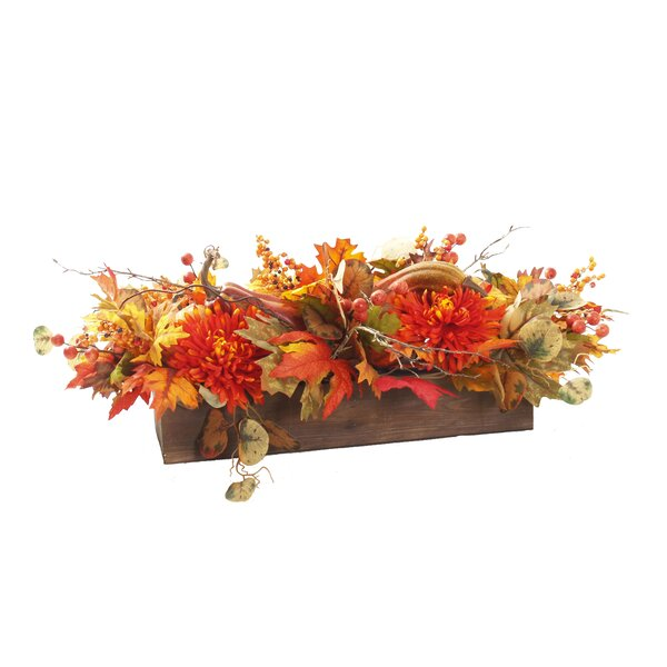 Christmas Mixed Centerpiece in Planter by The Holiday Aisle