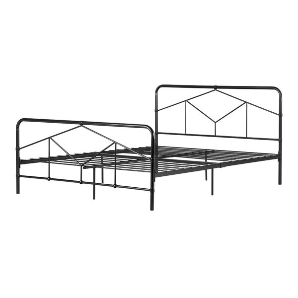 Sazena Geometric Metal Platform Bed by South Shore