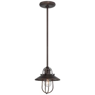 Bargain Marlyn 1-Light Cone Pendant By Beachcrest Home