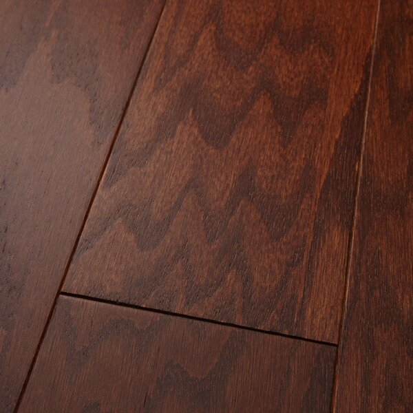 Americano 5 Engineered Oak Hardwood Flooring in Matte Glossy Old Bronze by Welles Hardwood