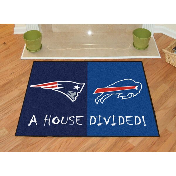 NFL House Divided - Patriots / Bills House Divided Mat by FANMATS