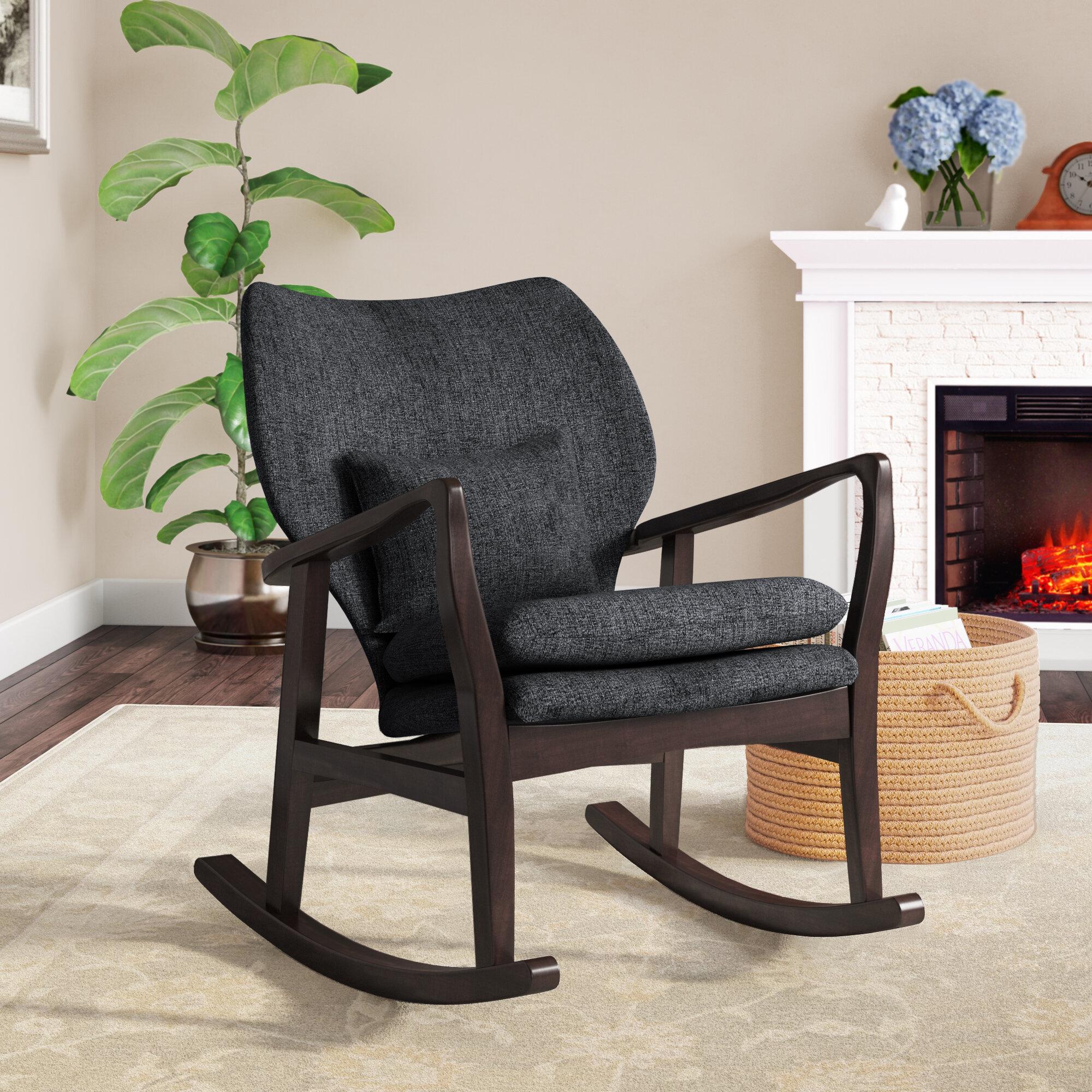 Remarkable Laurel Foundry Modern Farmhouse Quamba Rocking Chair Short Links Chair Design For Home Short Linksinfo