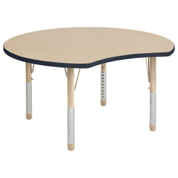 Crescent Maple Top Thermo-Fused Adjustable 44.5 x 48 Novelty Activity Table by ECR4kids