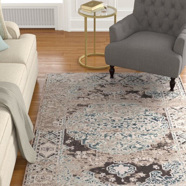 Clatterbuck Brown/Beige Area Rug by Charlton Home