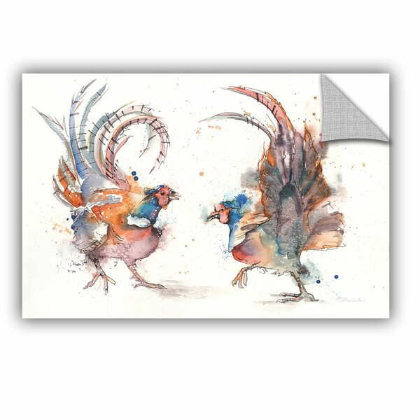 Liz Chaderton Flying Feathers Wall Mural by ArtWall