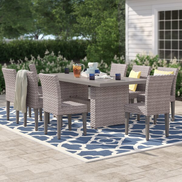 Kenwick 9 Piece Outdoor Patio Dining Set by Sol 72 Outdoor
