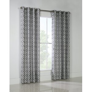 Jeppesen Geometric Room Darkening Grommet Single Curtain Panel (Set of 2)