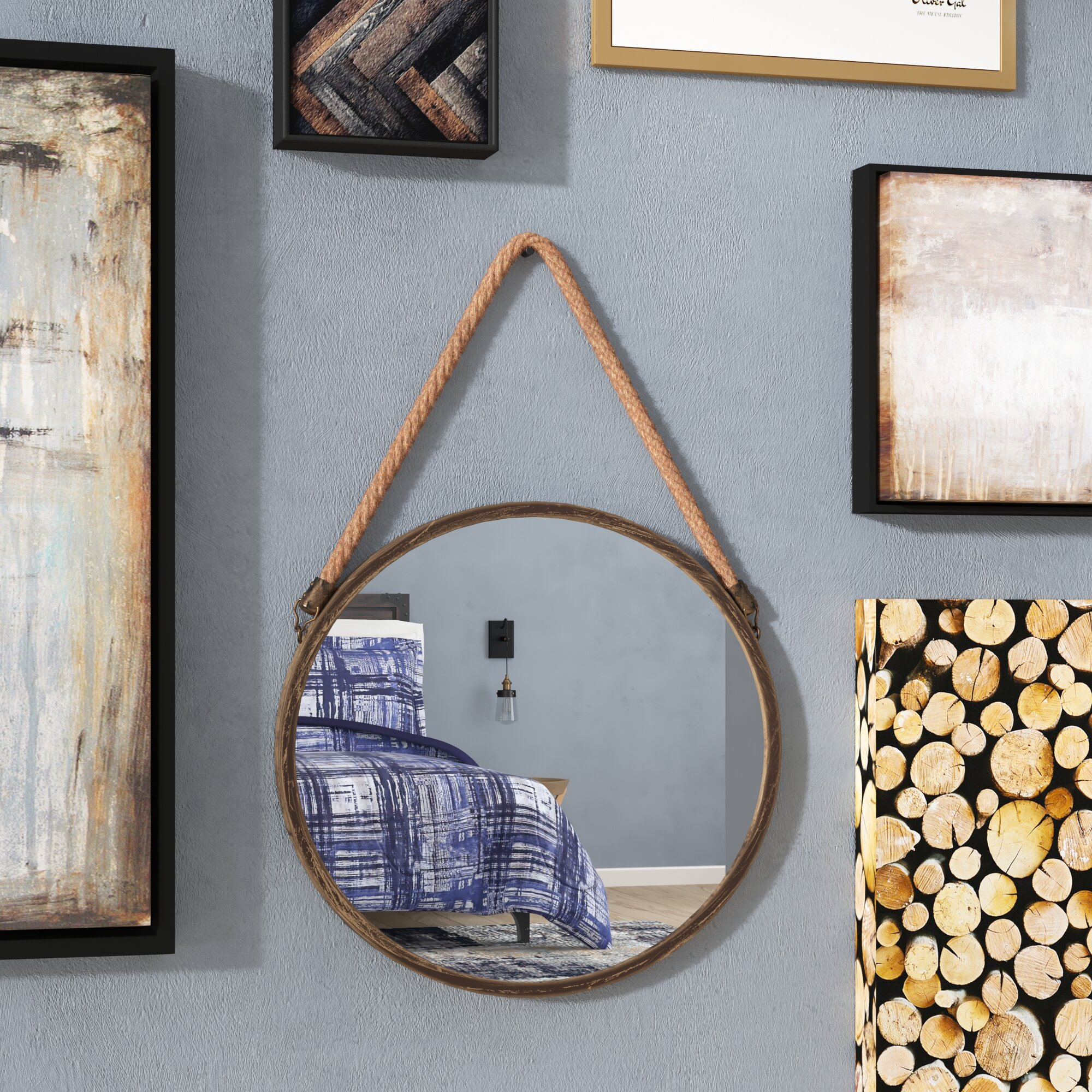 Hanging Round Mirrors You Ll Love In 2021 Wayfair