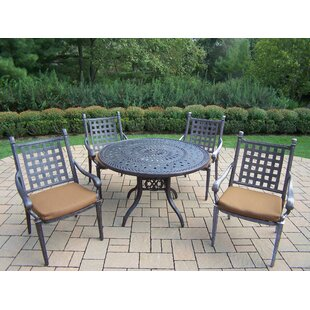 Vandyne 5 Piece Round Dining Set with Cushions ByDarby Home Co