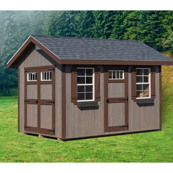 Riverside 8 ft. W x 12 ft. D Wood Storage Shed by EZ-Fit Sheds