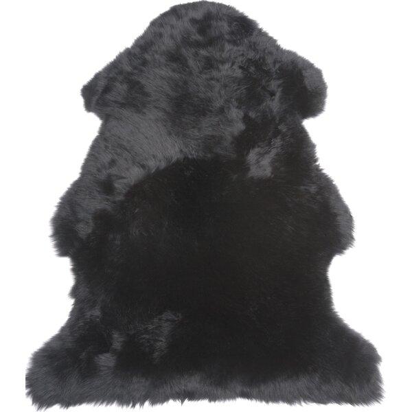 Single Pelt Black Area Rug by Fibre by Auskin