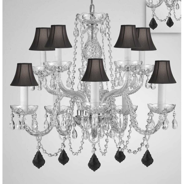 Mellott 10-Light Shaded Tiered Chandelier by House of Hampton House of Hampton