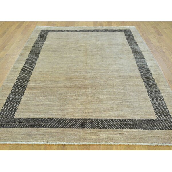 One-of-a-Kind Becker Hand-Knotted Beige Wool Area Rug by Isabelline