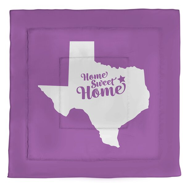 Dallas Home Sweet Single Reversible Comforter