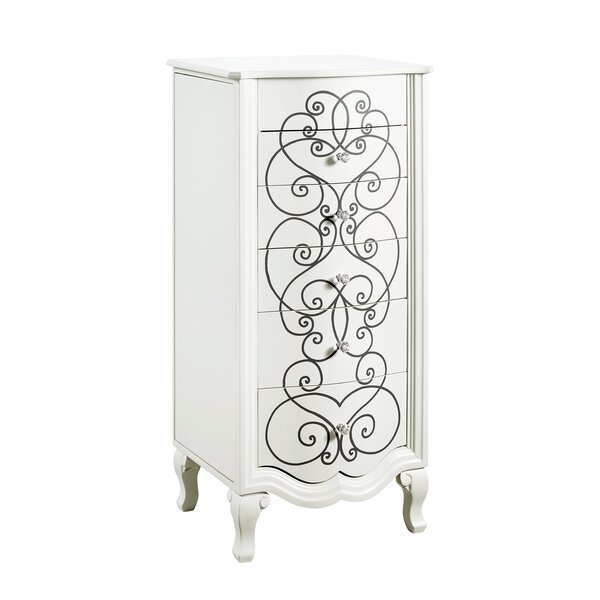 Cowan Jewelry Armoire with Mirror by Rosdorf Park
