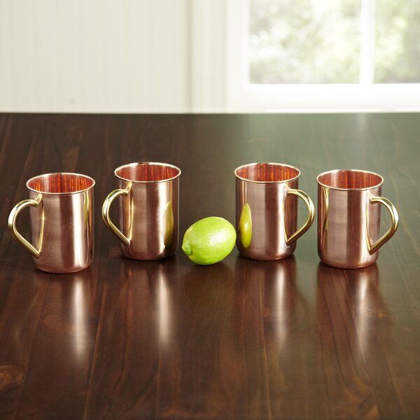 Polished Copper 14 oz. Moscow Mule Mug (Set of 4) by Birch Lane™