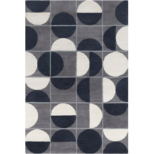 Check Prices Willa Hand Tufted Wool Grey/Black Area Rug By Corrigan Studio