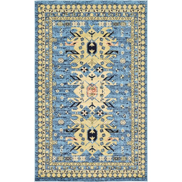 Valley Light Blue Area Rug by World Menagerie