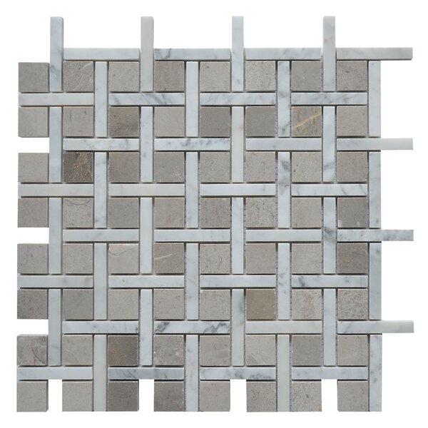 Apartment Miami Random Sized Marble Mosaic Tile in White/Gray by Matrix Stone USA
