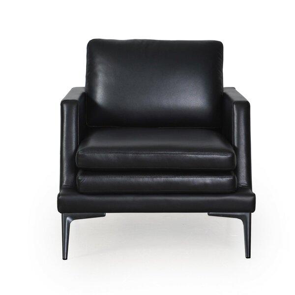 Arteaga Leather Armchair by Brayden Studio