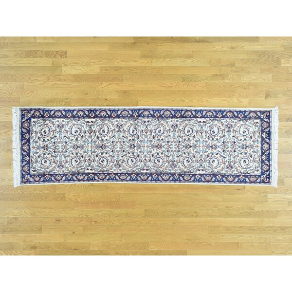 One-of-a-Kind Bovina Mahal Handwoven Ivory Wool Area Rug by Isabelline