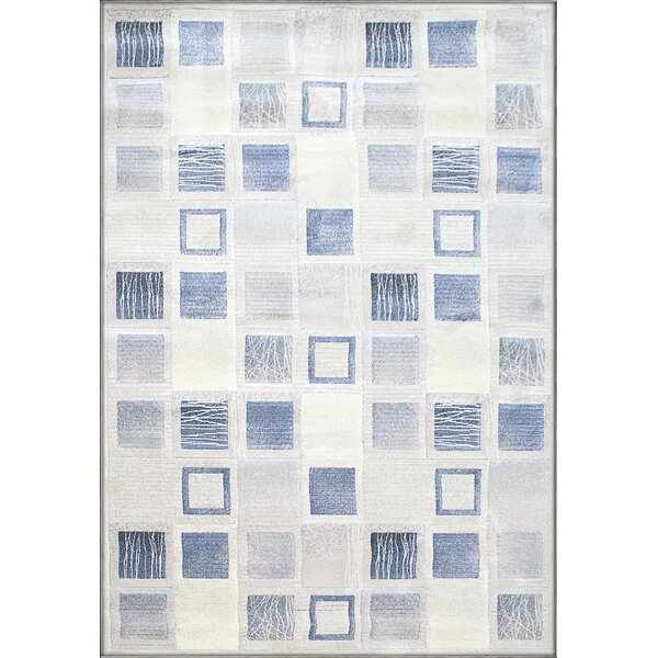 Lois Cream/Blue Area Rug by Winston Porter