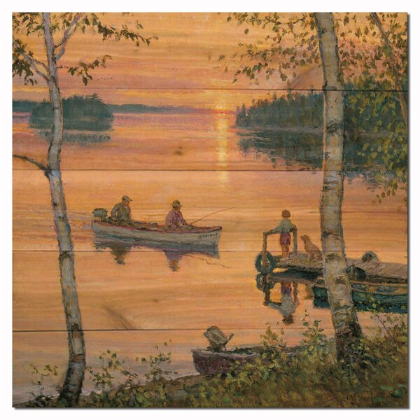 Lakeland Sunset by Lee Kromschroeder Painting Print Plaque by WGI-GALLERY
