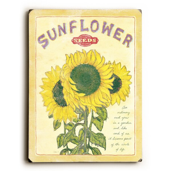 Sunflower Seeds Vintage Advertisement by August Grove