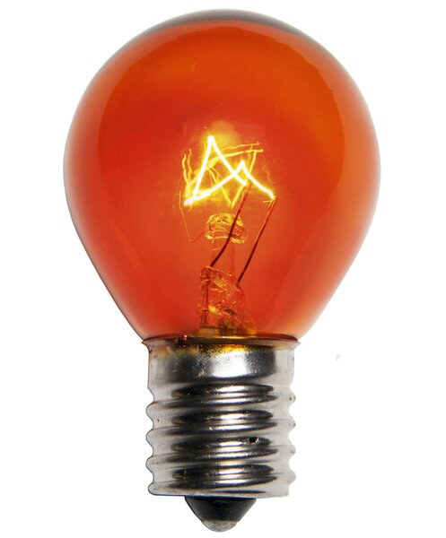 10W Amber 130-Volt Light bulb (Pack of 25) by Wintergreen Lighting