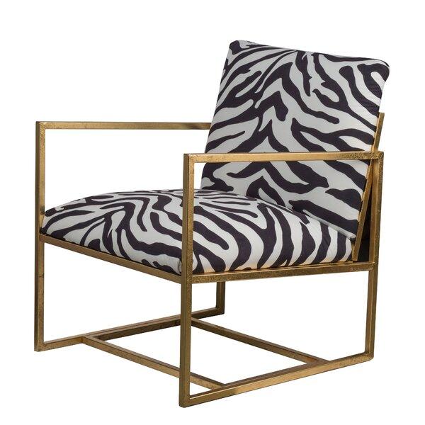 Cardenas Zebra Print Armchair By World Menagerie Spacial Price