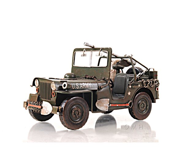 1940 Willys-Overland Jeep 1:12 Car by Old Modern Handicrafts