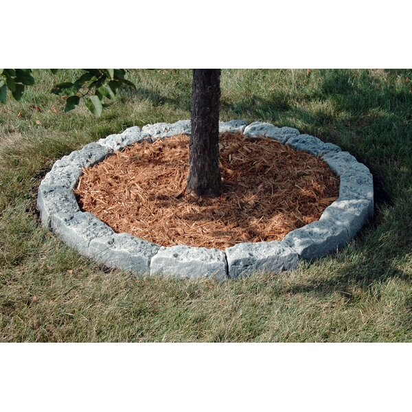 4 in. H x 10 in. W Artificial Stone Block Edging (Set of 16) by DekoRRa Products