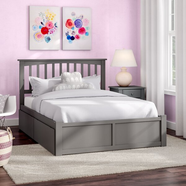 Reid Full Platform Bed with Drawers by Viv + Rae