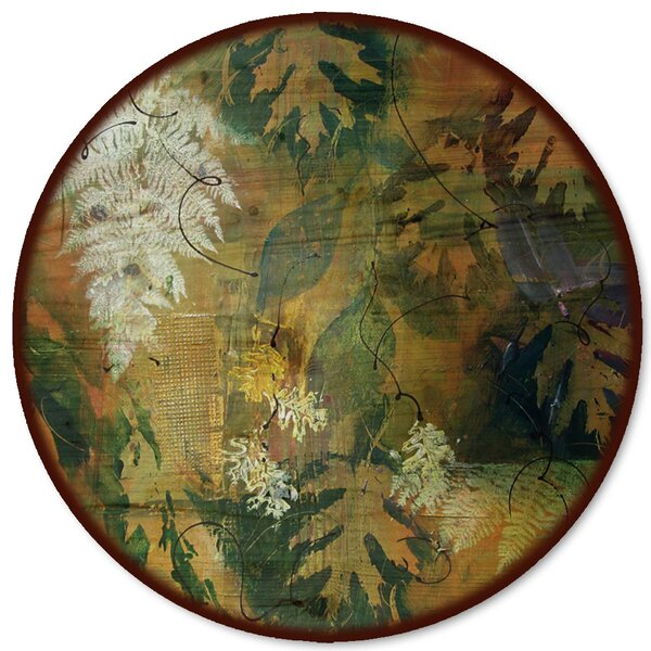 Leaves Maple and Fern Lazy Susan by WGI-GALLERY