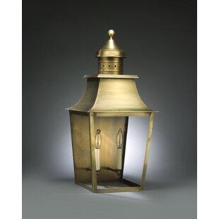 Compare Sharon 2-Light Outdoor Flush Mount By Northeast Lantern
