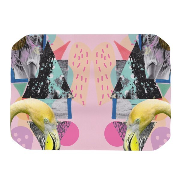 Flamingo Tropical Placemat by KESS InHouse