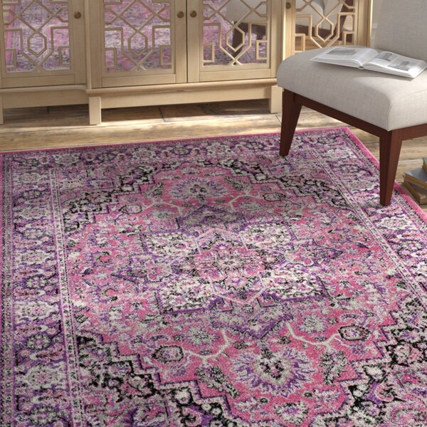 Doty Pink/Ivory Area Rug by Bungalow Rose