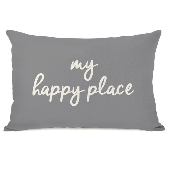 Dupras My Happy Place Outdoor Lumbar Pillow by Ebern Designs