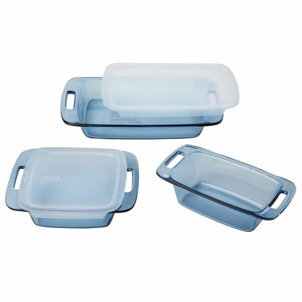 Atlantic 5 Piece Storage Container Set by Pyrex
