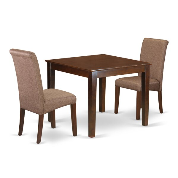 Kelsie 3 Piece Solid Wood Breakfast Nook Dining Set by Winston Porter Winston Porter