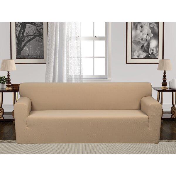 Box Cushion Stretch Sofa Slipcover by Charlton Home