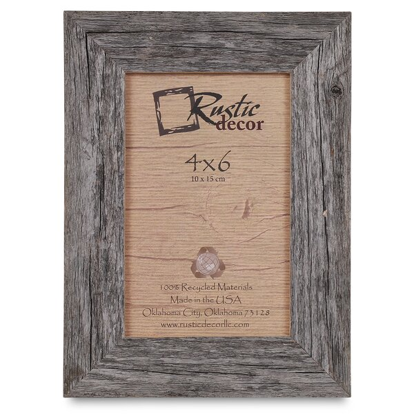 Kaison Barn Wood Reclaimed Standard Picture Frame by Union Rustic